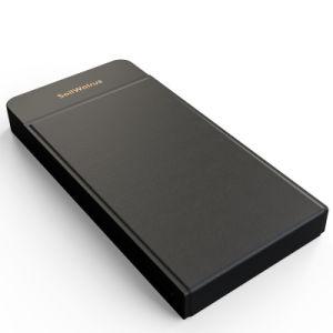 El Qi más barato en cuero de PU soporte para teléfono/Wireless Cargador de teléfono/Banco de potencia para Android