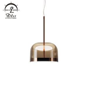 Venta caliente interior creativo moderno de cristal decorativas de la luz colgante
