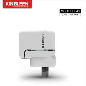 Usb-Wand-Aufladeeinheits-Stecker 2.1A/5V verdoppeln USB-Portenergien-Adapter-aufladenwürfel für Handy