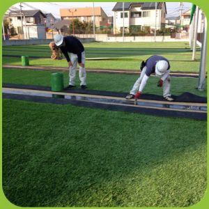 Künstliches Gras für den Sport, der für Fußball-Gras ausbreitet