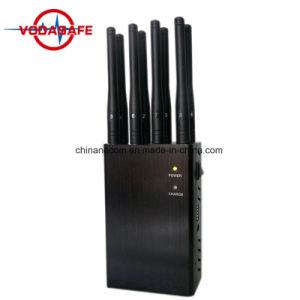Stampo portatile del telefono mobile di WiFi Bluetooth 3G 4G, 8 emittente di disturbo potente del telefono di VHF 3G 4G di frequenza ultraelevata di GPS WiFi Bluetooth Lojack delle antenne