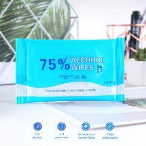 10ПК салфетки дисплея нетканого материала 75% спирта Протрите влажные салфетки для тела