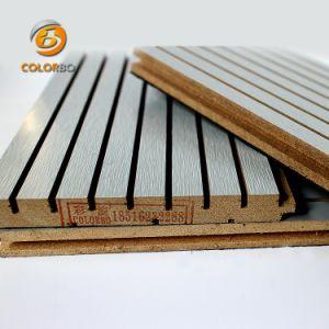 Le MDF Le matériel de base de bois ignifugé Panneau acoustique pour station de train
