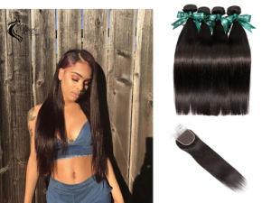 10A Brésilien 100 % de Cheveux Humains de la Trame de Gros Noir Naturel