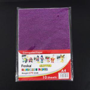 Boa qualidade Foska cintilante Cor de Papelão Ondulado papel feito à mão