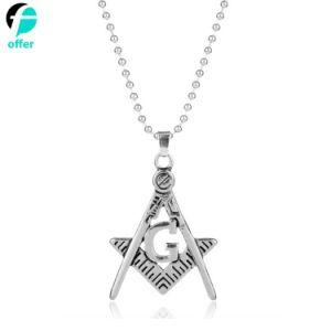 Collana Pendant massonica dei monili del Freemason dell'argento della decorazione del regalo di promozione