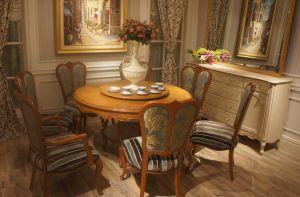 Muebles de madera francesa Royal juego de mesa y silla de comedor