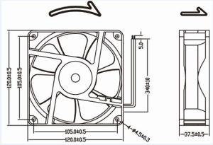 вентилятор отсоса воздуха AC 220V 120X120X38.5mm горячий