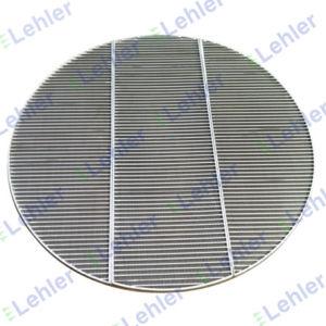 Plat en acier inoxydable soudés sur le fil de l'écran de filtre en coin