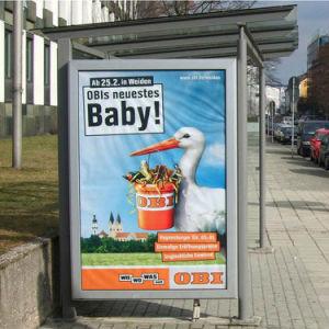 Boîte à lumière LED en aluminium de la rue Manufacture-Advertising afficher