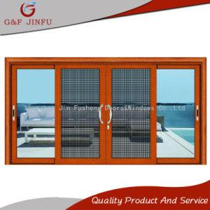 Классический стиль из алюминия и стекла боковой сдвижной двери с помощью Fly экран