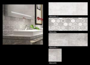 Grijze Mat beëindigt de Ceramische Binnenlandse Tegel van de Muur van de Badkamers (RBA4648A)