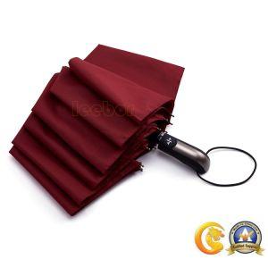 10K品質の屋外のための強い防風の3つのフォールドファブリック傘