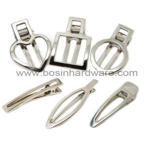 小さい金属のスナップクリップヘアークリップは卸し売りする
