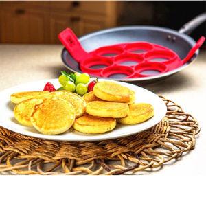 Silicone Ovo Nonstick Anel panqueca de cozinha cozinha cozinheiro do molde do molde de bolo Shaper Ferramenta da RFJ