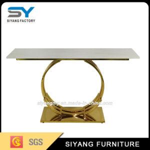 Мраморные верхнего пульта управления в таблице для столовой