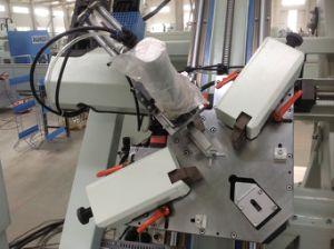 Finestra di alluminio e teste automatiche del portello quattro che uniscono macchina