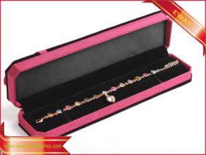 Contenitore di imballaggio stabilito del regalo dei monili di modo del contenitore di monili di lusso del velluto