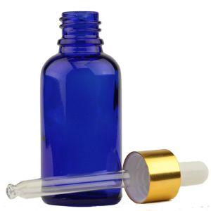 كوبلت اللون الأزرق [إسّنتيل ويل] زجاجيّة قطارة زجاجة