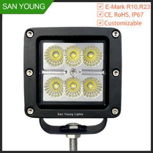Phare de travail 18W à LED Auot Offroad d'éclairage du tracteur