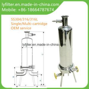 Huisvesting van de Filter van de Patroon van het Roestvrij staal SS316 SS304 Enige 10 20 30 40 Duim