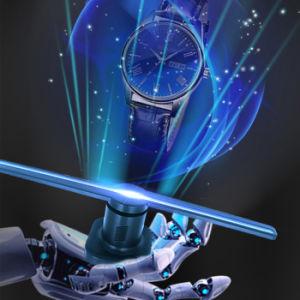 3D che fa pubblicità al ventilatore della visualizzazione LED dell'ologramma della macchina