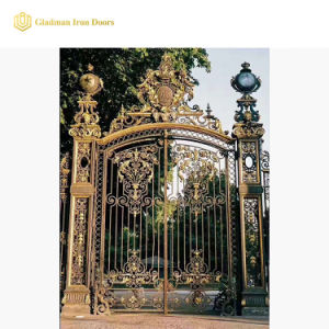 Готического стиля роскошь Custom железные ворота Литые стальные двери