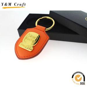 선전용 선물 호화스러운 가죽 조각 로고 금속 차 열쇠 고리