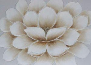 Il fiore sbocciante Handmade piacevole con il fiore del diamante sente la pittura a olio su tela di canapa