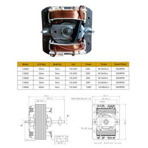 Venta de fábrica purificador de aire 3000-20000rpm del ventilador84-25 Yj Polo sombreado el capó del motor para horno/campana rango