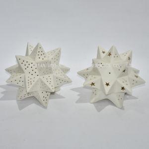 Candeliere di ceramica multifunzionale, decorazione domestica/presente di natale