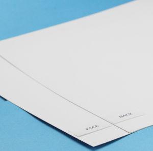 Impression recto verso couché carton avec le dos blanc/GT