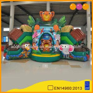 Nuevo diseño encantador lindo puente inflables de Tigre Casa rebote Deslice Combos (AQ01765)