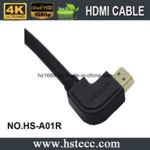 좌로 90 도 유형 HDMI 케이블 중국 제조자