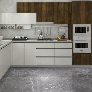 Mélange de cuisine en bois laqué blanc très brillant pour des meubles en bois
