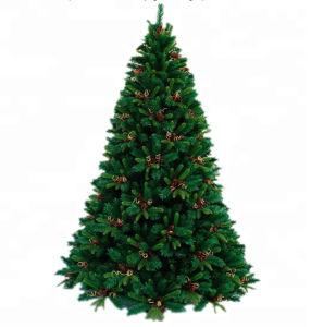 Popular 7.5 Slim LED verde Artificial Árbol de Navidad