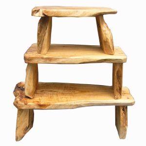 25PCS旧式な切り分けられた不規則なハンドメイドの木の椅子