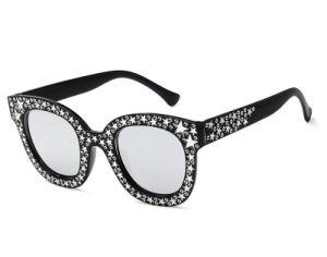 8 Glazen van de Zon van het Bergkristal van de Zonnebril van de Vrouwen van de Zonnebril van de Luxe van het ontwerp de Uitstekende