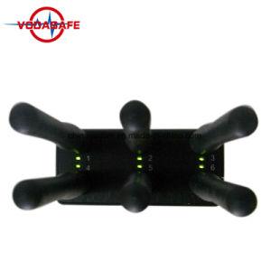 Venta caliente 6 antenas portátiles de alta potencia de 3G/315/ 433/ Lojack Jammer, 6 de mano de bandas de bloque de Jammer para GPS GSM 3G 4G