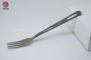 Juegos de cubiertos al aire libre de gama alta de la cena la horquilla de titanio horquilla cuchilla