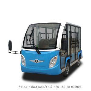 As vendas de fábrica 8 Lugares autocarro eléctrico com a porta