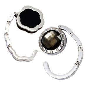 Form-kundenspezifischer Zink-Legierungs-Metallgeschenk-Beutel-Halter, der Puching Sublimation-Beutel-Aufhängung mit Diamanten (007, faltet)