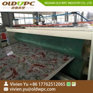壁パネルのためのPVCによって薄板にされる大理石のシート押し出し機機械