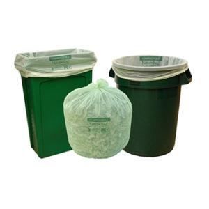옥수수 녹말 주문 색깔은 롤에 100% 생물 분해성 Compostable 플라스틱 쓰레기 봉지를 인쇄했다