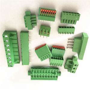 3.81mm 3つのPinのまっすぐなねじ込み端子のブロックのコネクターのプラグイン可能なタイプ