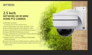 5MP CMOS His3516DV100+5521 IP PTZ de Camera van de Koepel
