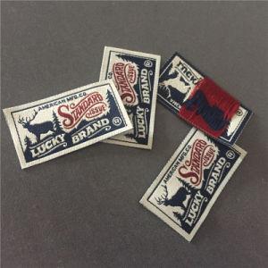 -Hace personalizada etiqueta tejida etiquetas tejidas