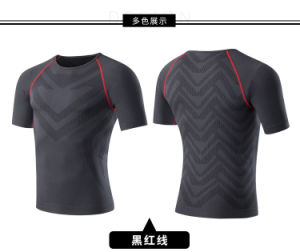 체조 셔츠 Breathable 운동복 남자의 t-셔츠를 인쇄하는 새로운 디자인 메시