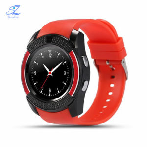 Kamera-Taktgeber-Support BT 4.0 des Bluetooth V8 intelligenter Uhr Smartwatch Frauen-/Mann-Telefon-Taktgeber-Aufruf-SIM TF für IOS-androide runde Uhr