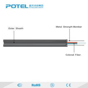 FTTH 1 2 de Kabel van de Daling van 4 Kern Gjxh met het Jasje van pvc LSZH/